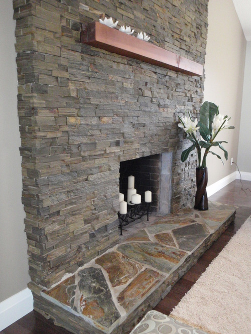 excellent saveemail with flagstone fireplace pictures.