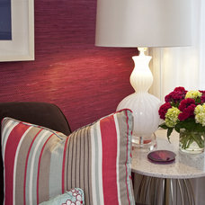 Traditional Living Room by Emily Ruddo