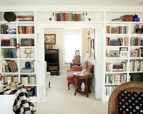 Elegant Living Room Library Photo In Columbus
