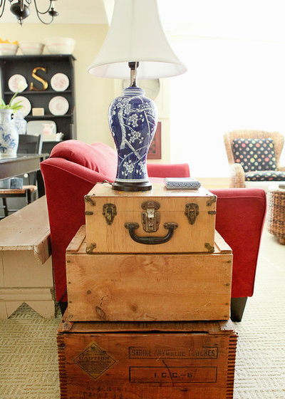 Traditional Living Room by Julie Ranee Photography