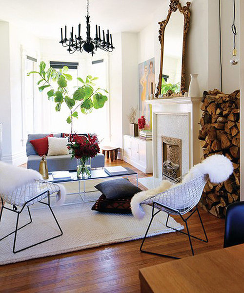 Chic Contemporary Furniture: Eclectic Modern Living Room