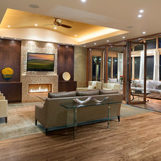Contemporary Living Room by Moon Bros Inc