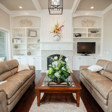 Traditional Living Room by Rautmann Custom Homes
