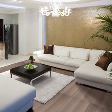 Contemporary Living Room by Emser Tile