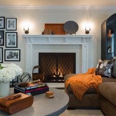 Eclectic Living Room by Studio H Design Group, Inc.