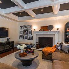 Transitional Living Room by Studio H Design Group, Inc.