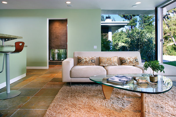 Midcentury Family Room by Tracy Stone AIA