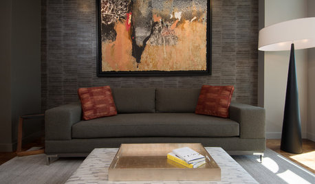 Room of the Day: Playing All the Angles in an Art Lover's Living Room