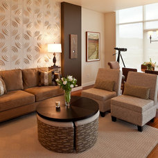 Contemporary Living Room by House of George LLC