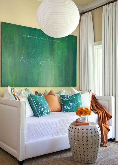 Beach Style Living Room by Tobi Fairley Interior Design