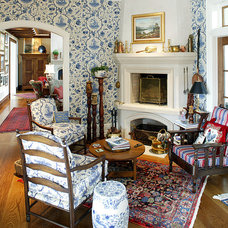 Traditional Living Room by Dewson Construction Company