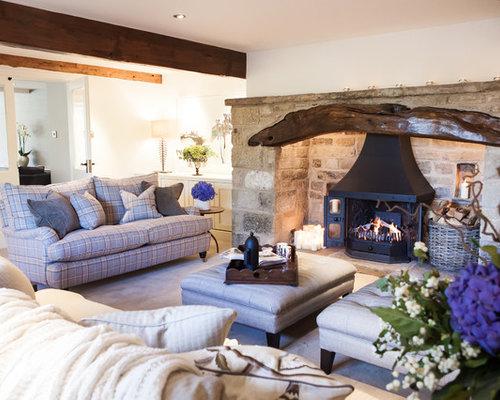 Tartan living room design ideas renovations photos for Tartan living room ideas