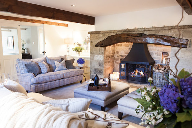 Farmhouse Living Room by Harpers Interiors