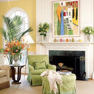 Idee per un ampio soggiorno tradizionale chiuso