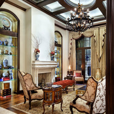 Traditional Living Room by JAUREGUI Architecture Interiors Construction