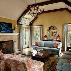 Traditional Living Room by Burns and Beyerl Architects