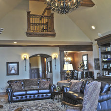 Mediterranean Living Room by Brent Gibson Classic Home Design