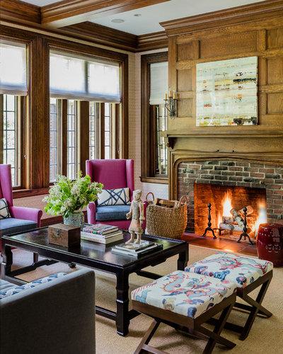 Traditional Living Room by LeBlanc Design