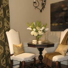 Traditional Living Room by Kate Byer Interior Design