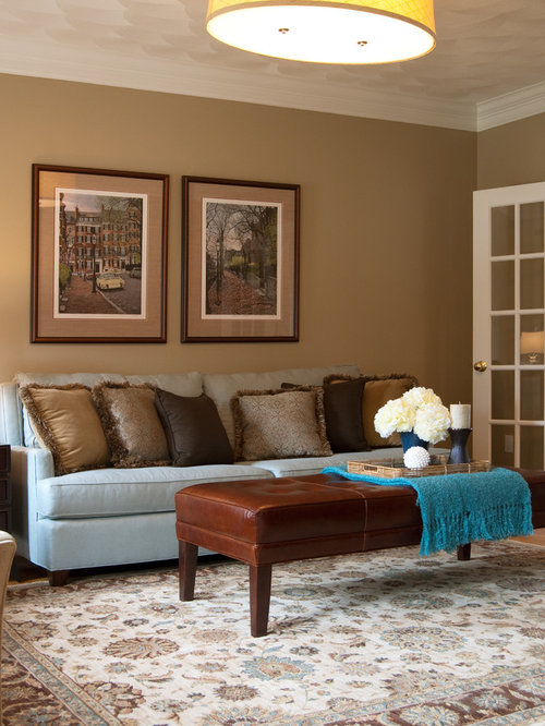 11091 blue and brown living room design photos