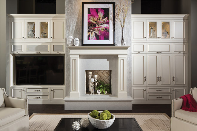 Transitional Living Room by Dura Supreme Cabinetry