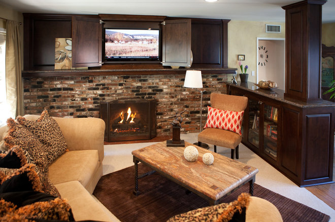 Traditional Living Room by Reborn Cabinets Inc.