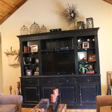Rustic Living Room Entertainment Center
