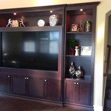 Modern Living Room by CustomBuilt-ins.com / CFM Company Inc.