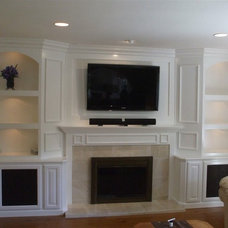 Traditional Living Room by Woodwork Creations
