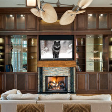 Contemporary Living Room by Kornerstone Kitchens