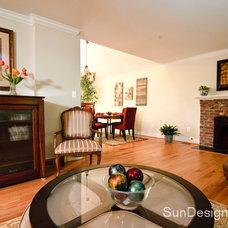 Traditional Living Room by Sun Design Remodeling Specialists, Inc.