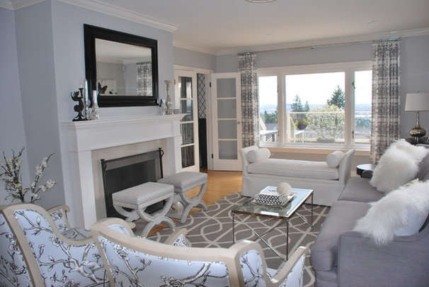Transitional Living Room by Enviable Designs Inc.