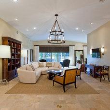 Mediterranean Living Room by Idlewild Furnishing
