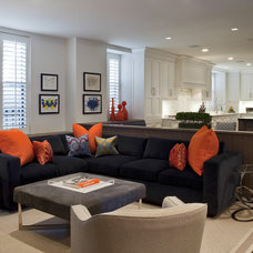 Contemporary Living Room by Eric Cohler Design