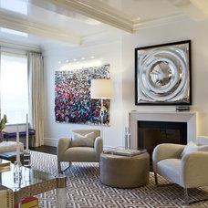 Transitional Living Room by Eric Cohler Design
