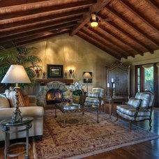 Mediterranean Living Room by EB Knight Construction