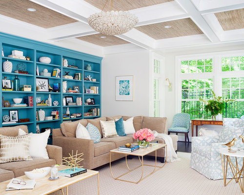 Inspiration For A Transitional Dark Wood Floor And Brown Floor Living Room  Remodel In DC Metro Part 91