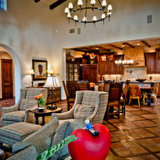 Mediterranean Living Room by Butterfield Custom Homes