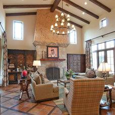 Mediterranean Living Room by Butterfield Custom Homes
