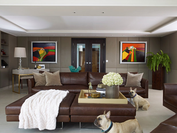 Contemporary Living Room by Callender Howorth