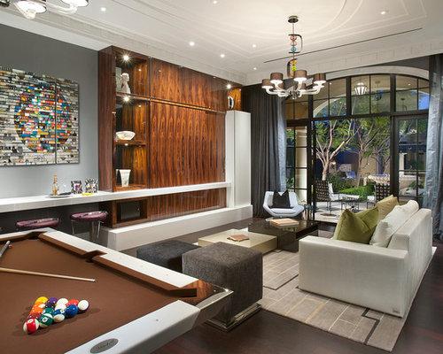 wohnen mit hausbar und verstecktem tv ideen f r die wohnraumgestaltung houzz. Black Bedroom Furniture Sets. Home Design Ideas