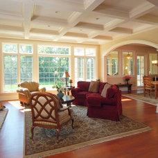 Traditional Living Room by Tracy Leah Interior Design