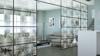 Etched Glass Walls