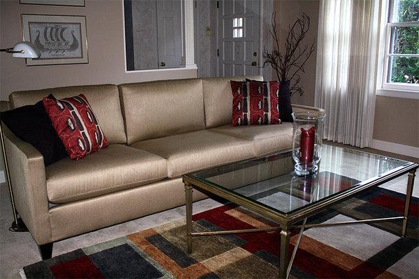 Traditional Living Room by Tiffani Huber