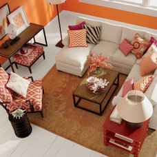 Contemporary Living Room by Ethan Allen