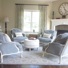 Traditional Living Room by Jill Calo for Ethan Allen of Woodmere, OH