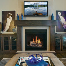 Contemporary Living Room by Huntwood Custom Cabinets