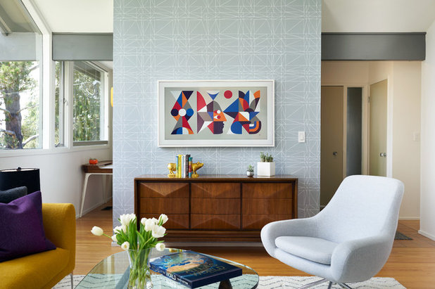 Midcentury Living Room by Eisenmann Architecture