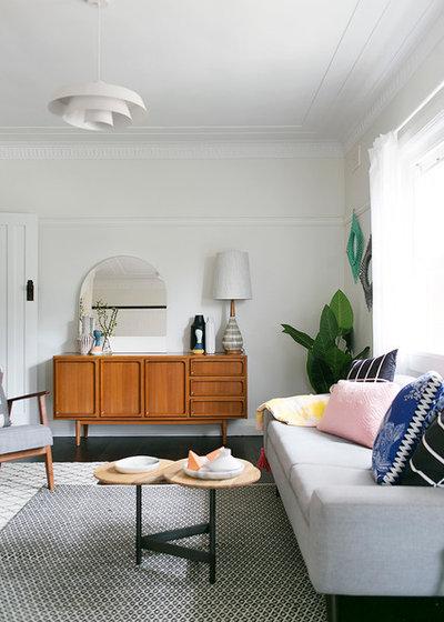 Scandinavian Living Room by Amazema Interiors