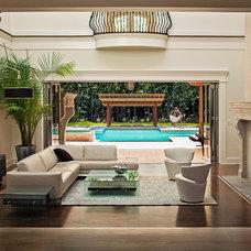 Mediterranean Living Room by Perello Building Corporation